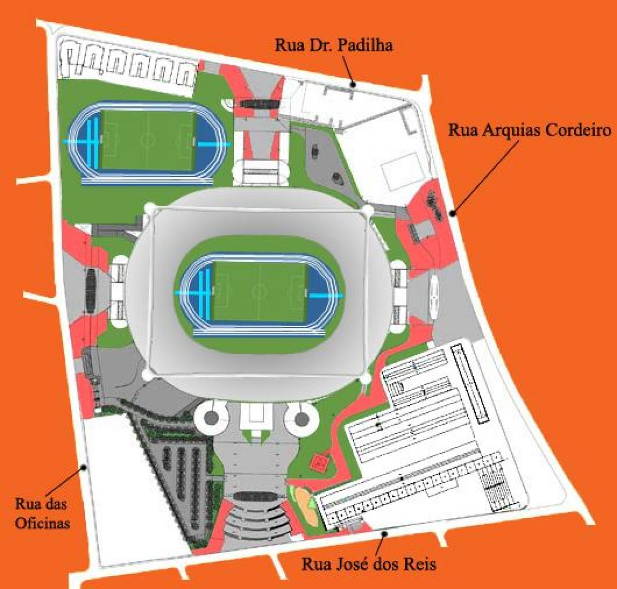 Mapa do estádio do Engenhão